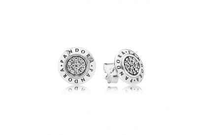 Pandora Moment Collection Signature Logo Silver Earrings (1pair)