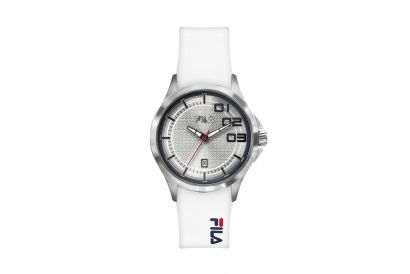 Fila 3-Hands Gent Stainless Steel Case Silicon Strap Watch (1pc)