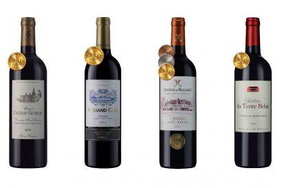 4-bottle Premium Gold-Bordeaux Showcase (1 set)