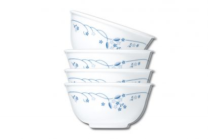 Corelle Chinese Rice Bowl 4pcs Set (450 ml) (Privincial blue) (1set)