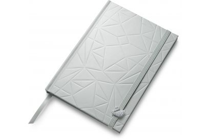 Swarovski White Collection Notebook With Swan Charm (1pc)