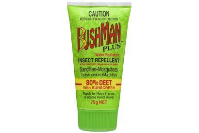 Bushman Plus 80% Deet Insect Repellent Drygel with Suncreen (75g) (1 pc)