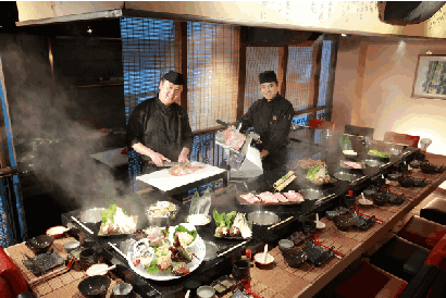 Akita Hamayaki Shabu Shabu Donburi - Omakase Shabu Shabu Set Dinner Menu A for 2 persons
