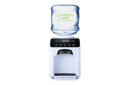 Wats-Touch Hot & Chilled Dispenser (White) with 2 bottles of 12L Carboy Water (1 Set)