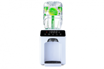 Wats-Touch mini Hot & Ambient Dispenser (White) with 8 bottles of 4.5L Bottled Water (1 Set)