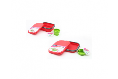 HKTDC Design Gallery Lexngo large silicone collapsible lunch combo (Red/Green/Blue)(1pc)
