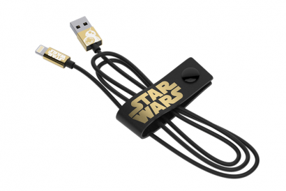 TRIBE STAR WARS CABLE LIGHTNING MFI CABLE 120CM BB8 (Gold) (1pc)