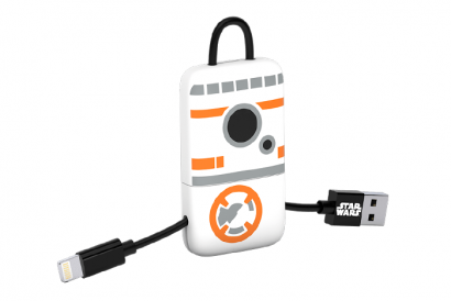 TRIBE STAR WARS CABLE LIGHTNING MFI KEYLINE 22CM CABLE (BB8) (1pc)
