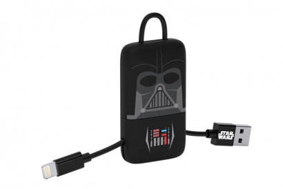TRIBE STAR WARS CABLE LIGHTNING MFI KEYLINE 22CM CABLE (Darth Vader) (1pc)