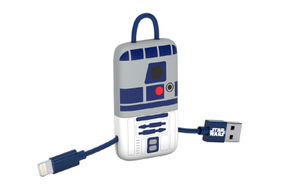 TRIBE STAR WARS CABLE LIGHTNING MFI KEYLINE 22CM CABLE (R2D2) (1pc)