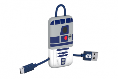 TRIBE STAR WARS CABLE MICRO USB KEYLINE 22CM CABLE (R2D2) (1pc)