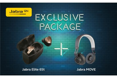 Jabra Elite 65T (Copper Black) + Jabra Move Wireless Headphone (Black) (1 Set)