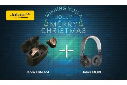 Jabra Christmas Set (Jabra Elite 65T (Copper Black) + Jabra Move Wireless Headphone (Black)) (1 Set)