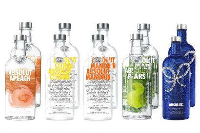 Absolut Vodka 750ml set (Apeach x2, Citron x2, Mandrin x2, Pears x2, Sequin edition x2) (1 set)