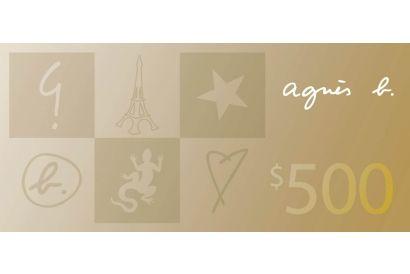 agnès b. HK$500 Cash Coupon (1 pc)