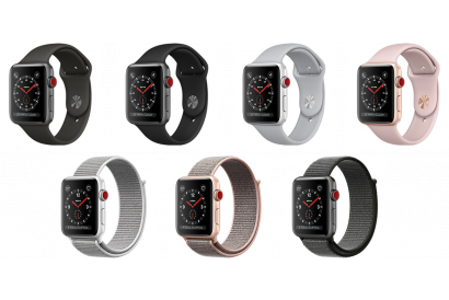 Apple Watch Series 3 (GPS + Cellular) - 38mm Aluminum Case with Sport Band / Sport Loop