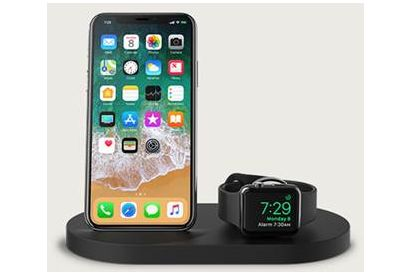 Belkin BOOST UP Wireless Charging Dock for iPhone + Apple Watch + USB-A Port - Black (1 pc)