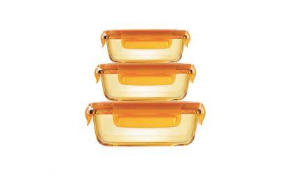 Pyrex Amber - Rectangular Storage Box 6 pcs Set (1 set)
