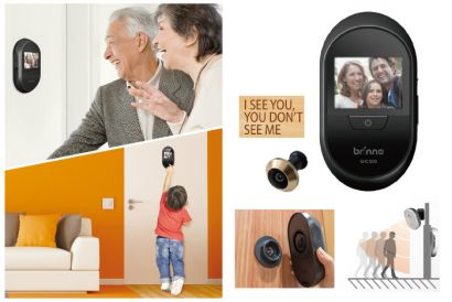 Brinno Digital PeepHole Viewer Camera & Motion Activated Sensor (1pc)