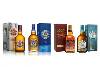 Chivas Regal Scotch Whisky 700ml set (12 Year Old, 18 Year Old, Extra, Mizunara) (1 set)