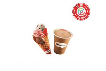 Häagen-Dazs™ Frutti Combo (one Milkshake and one Triple Frutti) Gift Voucher (Take Away Only)