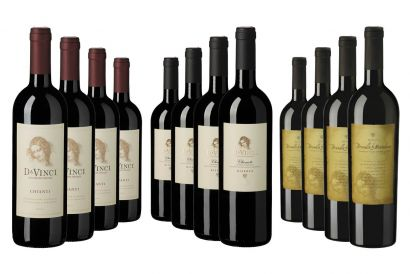 Da Vinci's Wine Selection (includes 4x 75cl bottles each of Chianti, Chianti Riserva & Brunello di Montalcino) (1 set)