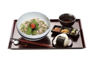 UJI-EN - (Winter Edition) Mentaiko with Soya Cream Namachamen Set with Mini Matcha Jelly and Onigiri (Dine-in only) (1 set)