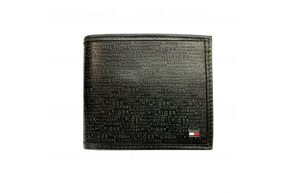 Tommy Hilfiger Global Flat Billfold with Window Gent Leather Wallet (1 pc)