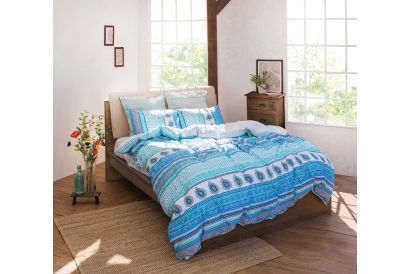 ESPRIT - Printed Bed Fitted Sheet and Quilt Cover Set (EBA10) (1 set)