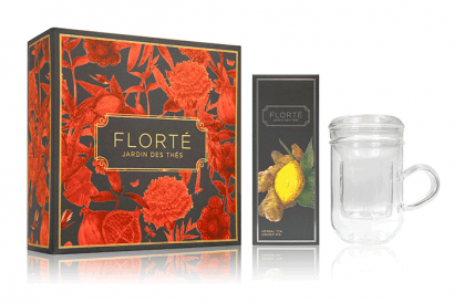 Dahlia Gift Set - 1 Tea & 1 Tea Mug (1 box)