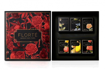 Dahlia Gift Set with 6 discovery teas (1 Box)