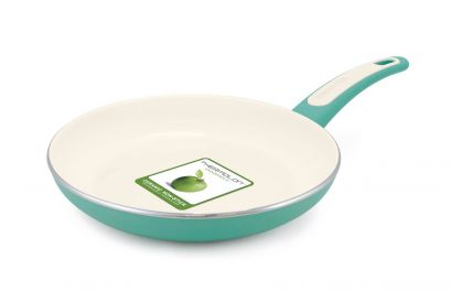 GreenPan - Focus Turquoise Open Fry Pan 28cm (Without Cover) (1pc)