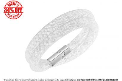 [11.11] Swarovski Stardust Gray Double Bracelet (1 pc)