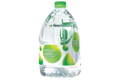 Watsons Water 4.5L Distilled Bottled Water* (1 case – includes 4 bottles of 4.5L Bottled Water)