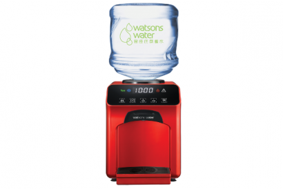 Wats-Touch Hot & Chilled Dispenser (Red) with 6 bottles of 12L Carboy Water (1 Set)