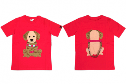 Hong Kong Guide Dogs Association - Hand Made Guide Dog Image Red Tee Shirt (Image at front & back) (1pc)