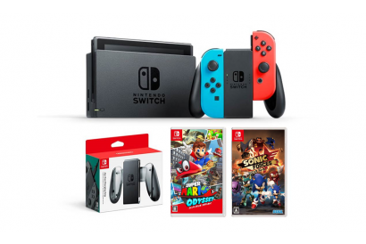 Nintendo Switch™  Bundle Set-  Red/Blue (1pc) (Legitimately-Imported Goods)