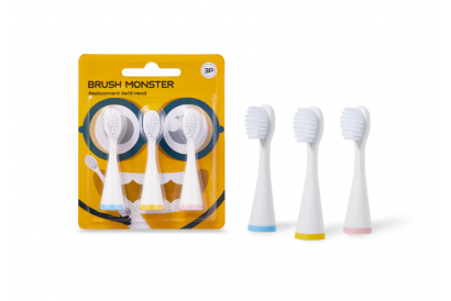 Brush Monster Replacement Refill Head (3 pcs per set)