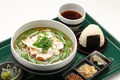 UJI-EN - Kagoshima Pork Namacha Men/ Somen and onigiri set with hot or ice matcha (dine-in only) (1 pc)