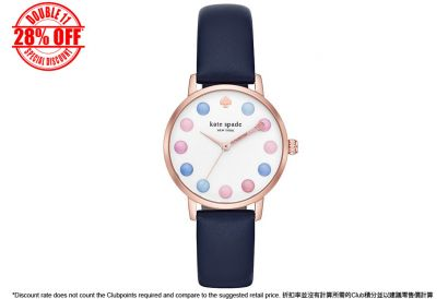 [11.11] Kate Spade Metro Navy Leather Watch KSW1454 (1 pc)