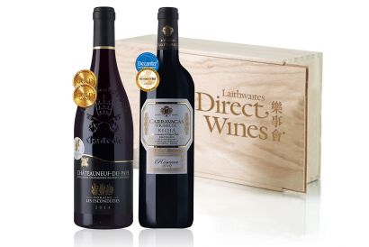 Laithwaites Direct Wines - 2-bottle Glorious French and Spanish Reds (Packed in Wood)