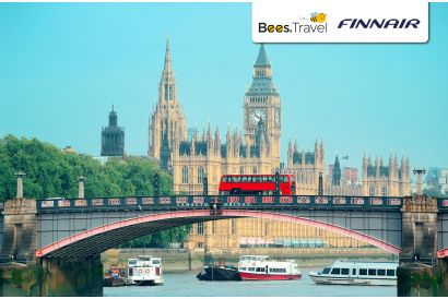 Finnair - 1 Round Trip Economy Class Air Ticket (Hong Kong – London) (with Free Roaming Data Pass*)