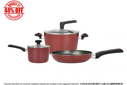 [11.11] Meyer 16CM/ 1.9L Covered Saucepan #22018 + Meyer 25CM Open Frypan #22022 + Meyer 24CM/5.7L Covered Stockpot #22083 (1 set)