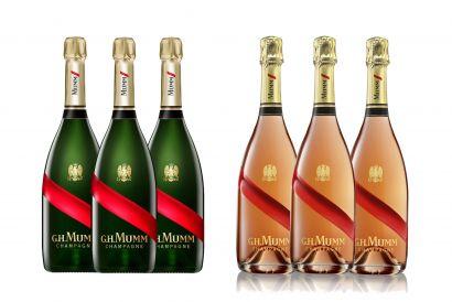 Mumm Grand Cordon Champagne (3 bottles) +  Mumm Grand Cordon Rose Champagne (3 bottles)
