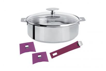 Cristel 28cm Saute Pan with Detachable Handles (Model No: S28Q) (1 pc)