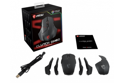 MSI CLUTCH GM60 Gaming Mouse (1pc)