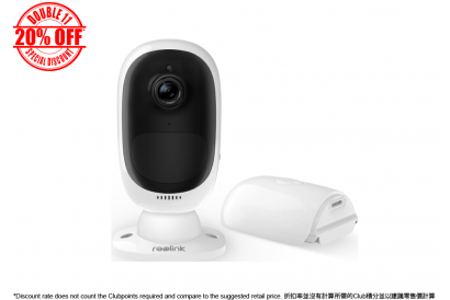 [11.11] Reolink Argus 2 100% Wire-Free 2MP Smart Home Weatherproof Battery Camera (1pc)