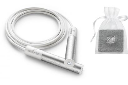 Swarovski White Collection Sporty Set - Sweat Band & Jump Rope (1 set)