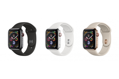 Apple Watch Series 4 (GPS+Cellular) 44mm Stainless Steel Case with Sport Band (1pc)