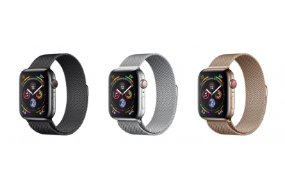 Apple Watch Series 4 (GPS+Cellular) 44mm Stainless Steel Case with Milanese Loop (1pc)